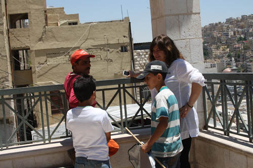 Amman - Jabal Al-Qalaa with residents